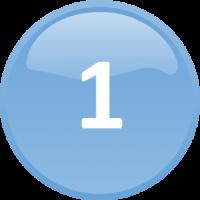 number 1 circle